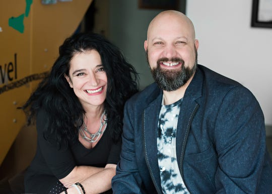 Owners of Wow! Des Moines Tours, Alessandra Meschini and Eric Prosperi.