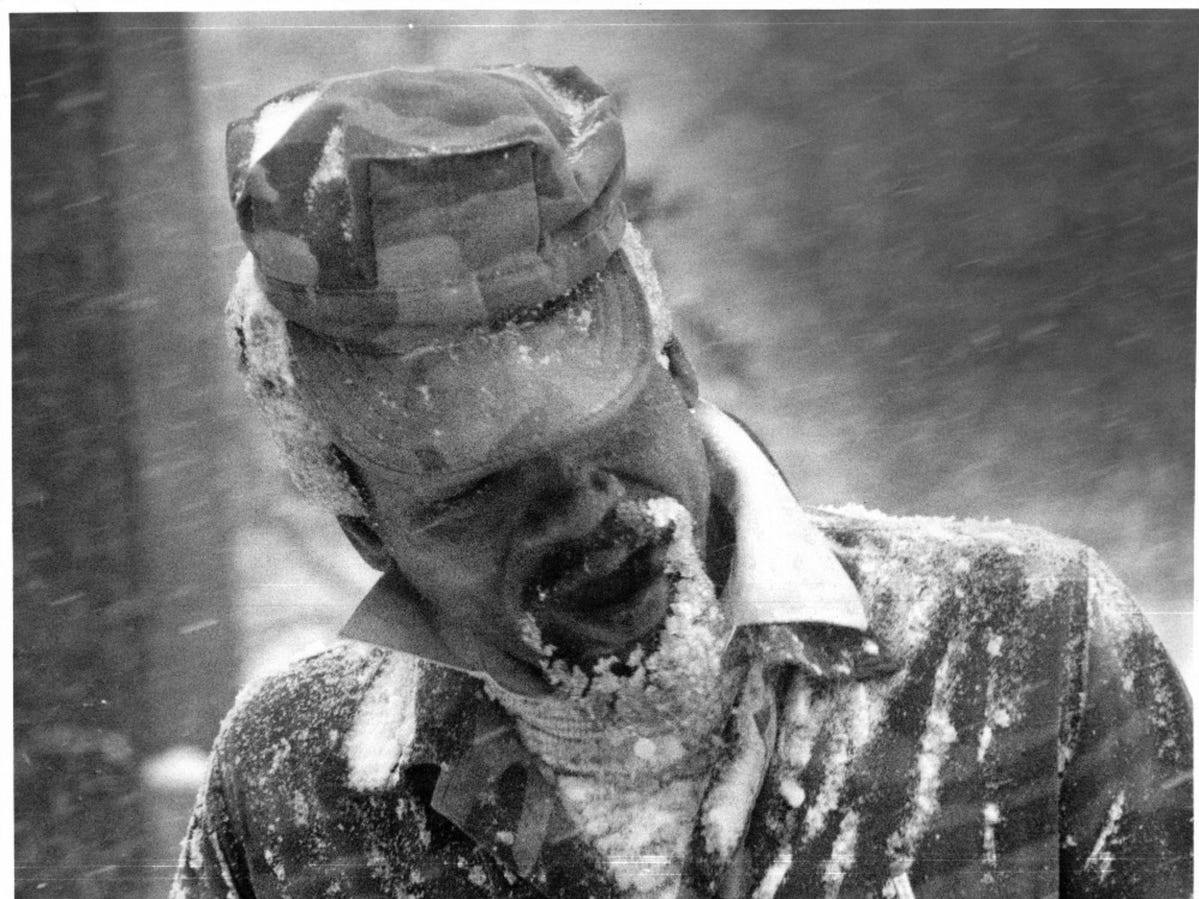 Winter storm in Detroit in 1987.
