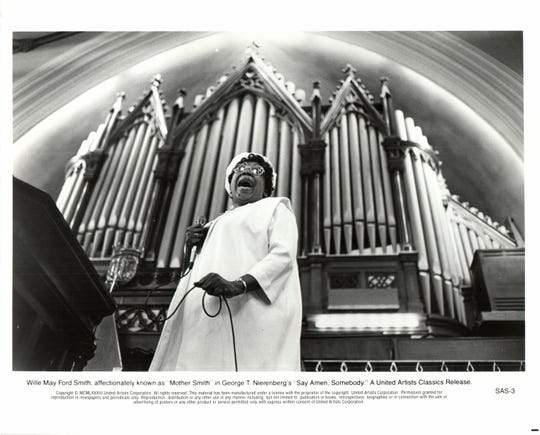 "Gospel music great Willie Mae Ford Smith in ""Say Amen, Somebody!"" Smith died in 1994."