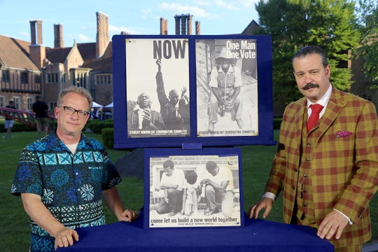 """John M.  being appraised on """"Antiques Roadshow"""" with his civil rights posters."""