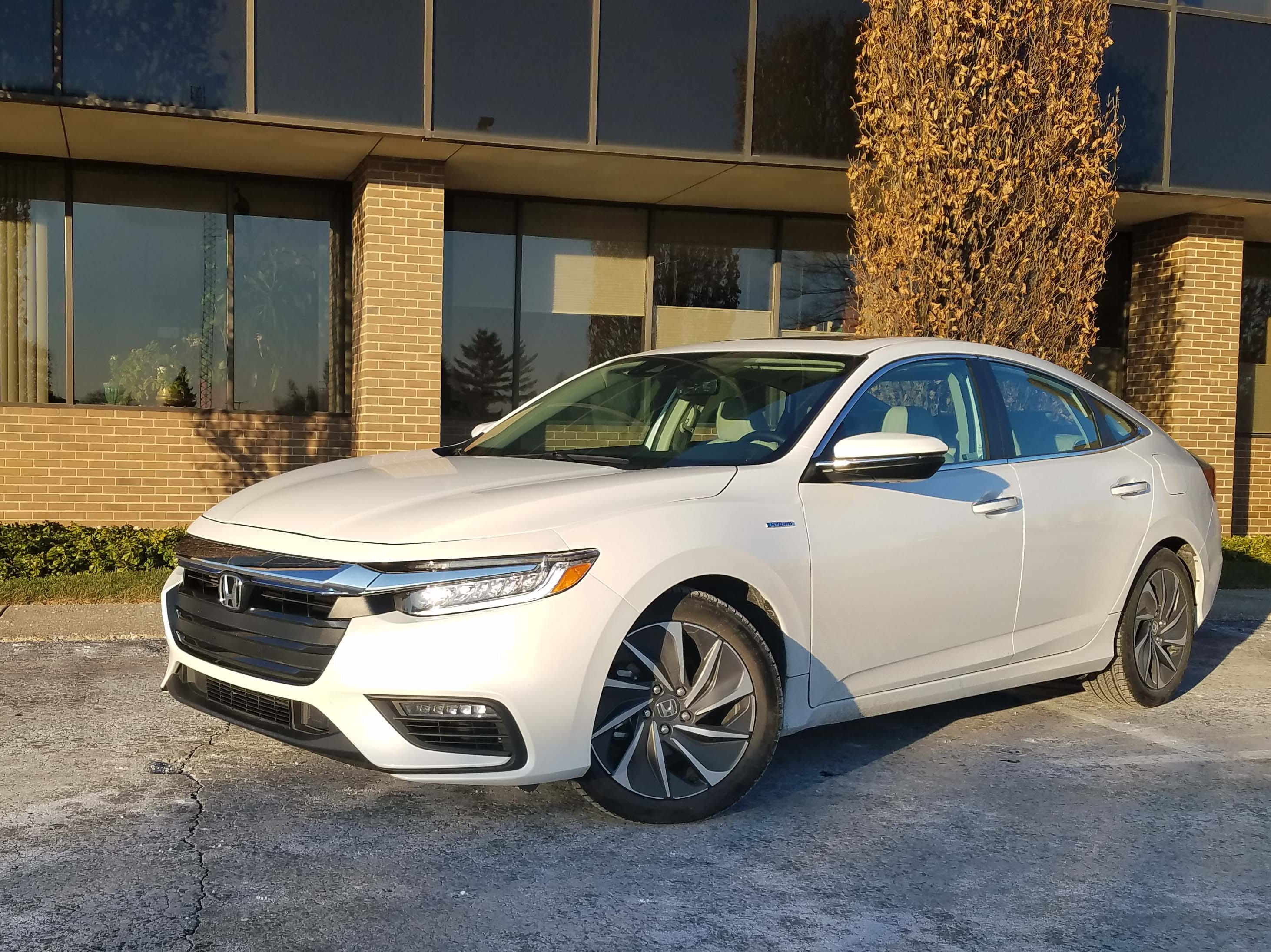 Insight 3.0. The 2019 version is the badge's third effort. While previous efforts have achieved fuel economy of 60-plus mpg, the more modest (48 mpg) Insight has more mainstream looks and amenities inside.