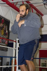 Jonathan Aneed of Livonia trains at Dynamic Boxing Club in Westland.