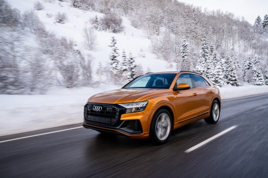 The 2019 Audi Q8 caps the brand's SUV range with a five-seat model that puts extra emphasis on sporty design, performance and an upscale interior.