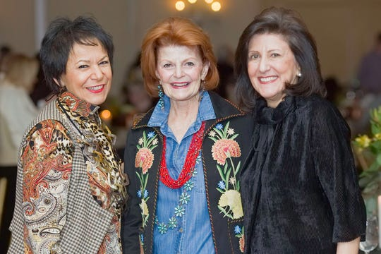 From left, Felicia Palazzolo-Shaw, Judy Schaffer McBride and Solange Messelian