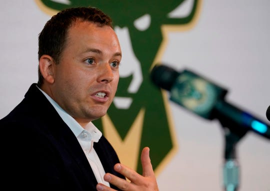 Jon Horst of Sandusky, Mich., is in his 11th year with the Milwaukee Bucks organization, and second as its general manager.