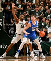 Former Michigan big man Ricky Doyle (15) saw his season end at Florida Gulf Coast because of a congenital back disease that will require surgery down the road.