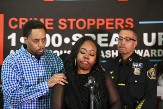 Richard Miller and Tomika Whitley talk about their son, 3-year-old Christian Miller,  during a press conference at Crime Stoppers of Michigan in Southfield, Monday. Christian was killed in a drive-by shooting.