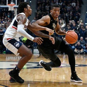 Former Michigan player Aubrey Dawkins is Central Florida's second-leading scorer, averaging 15.4 points per game.