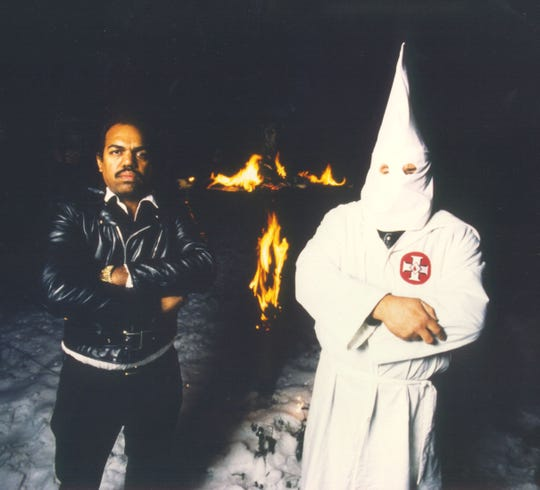 Daryl Davis at a Ku Klux Klan rally in Maryland. For the past 30 years, he has been dedicated to improving race relations in the U.S.