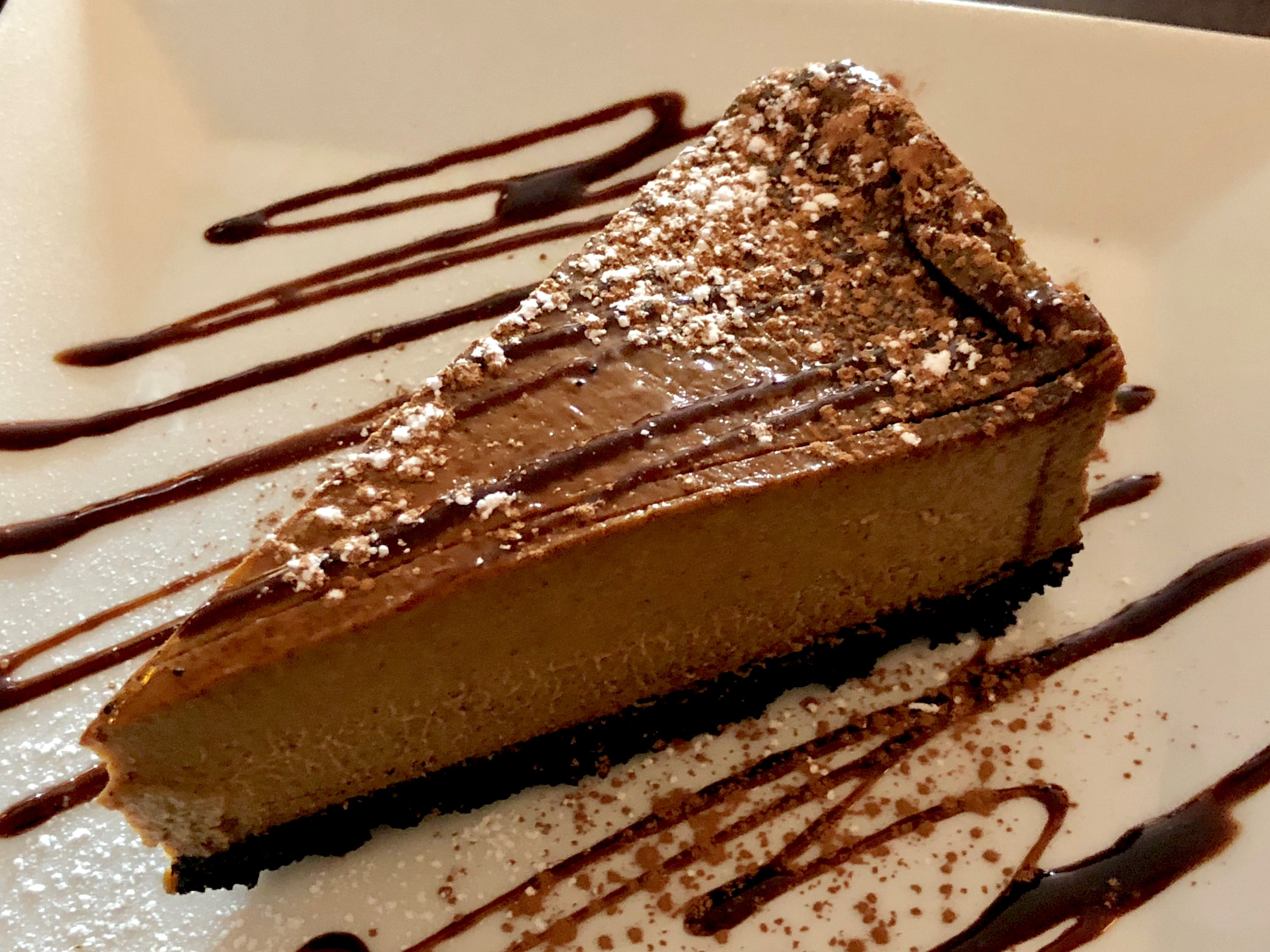 A wedge of coffee-infused flan from La Trattoria Cafe Napoli in south Fort Myers.