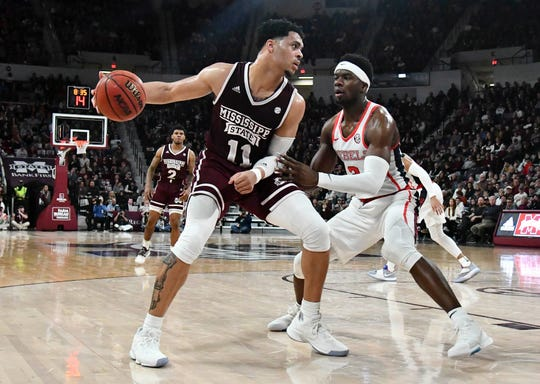 Quinndary Weatherspoon (11) leads Mississippi State against Ole Miss at 3:30 p.m. Saturday.