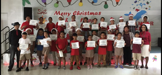 The GATE Performing Arts in Dance After-School Enrichment Program held their Christmas Dance Showcase and award ceremony on Dec. 21. The fourth and fifth grade students received their certificates from the GATE Dance Program. Assistant Principals Josephine Parel-Fontbuena and Dr. Patricia Taitano assisted C'zer Medina, GATE dance teacher in awarding the students.