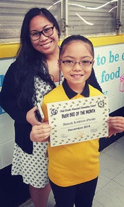 Aliviah Kathleen Onishi from Chief Brodie Elementary School was recognized as Student of the Month for December 2018. She is the daughter of Dan and Angela Onishi and granddaughter of Mike and Kathy San Nicolas. Pictured with Aliviah is her fourth grade teacher Maryleah Pervez.