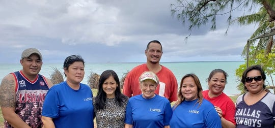 Commonwealth of the Northern Marianas first lady Diann Torres with members of Tohge Guam Jeremiah Santos & Brian Hahn and Islas-Aramas representatives from Saipan-Emerlita Camacho, & Lucy Hocog,  Tinian -Jovita Paulino and Tania Marie Mendiola, Rota- Kaye Christian