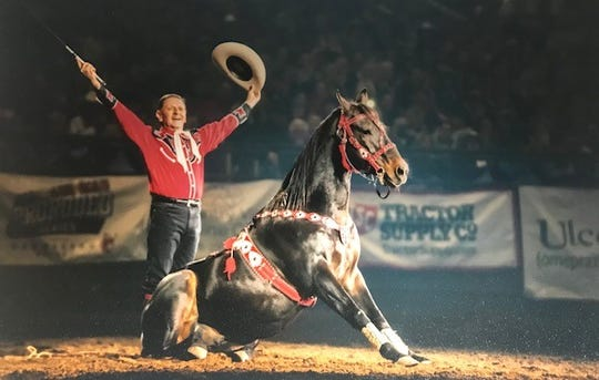 Mr. Bojangles weighed 300 pounds and was bald when Jerry Thornton rescued him after Hurricane Katrina. Now he's the trick horse star of a rodeo coming to Indy this weekend.
