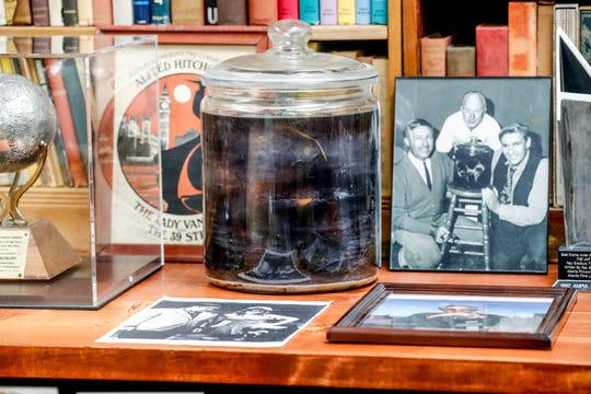 "The original jar prop was featured on ""The Alfred Hitchcock Hour"" episode ""The Jar"" written by author Ray Bradbury. It's inside the Center for Ray Bradbury Studies on the IUPUI campus."