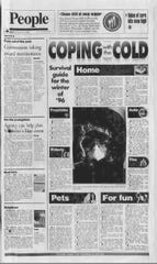 """The front page headline of the """"B"""" section on Saturday morning, Feb. 3, 1996 read, """"Coping with the cold."""""""