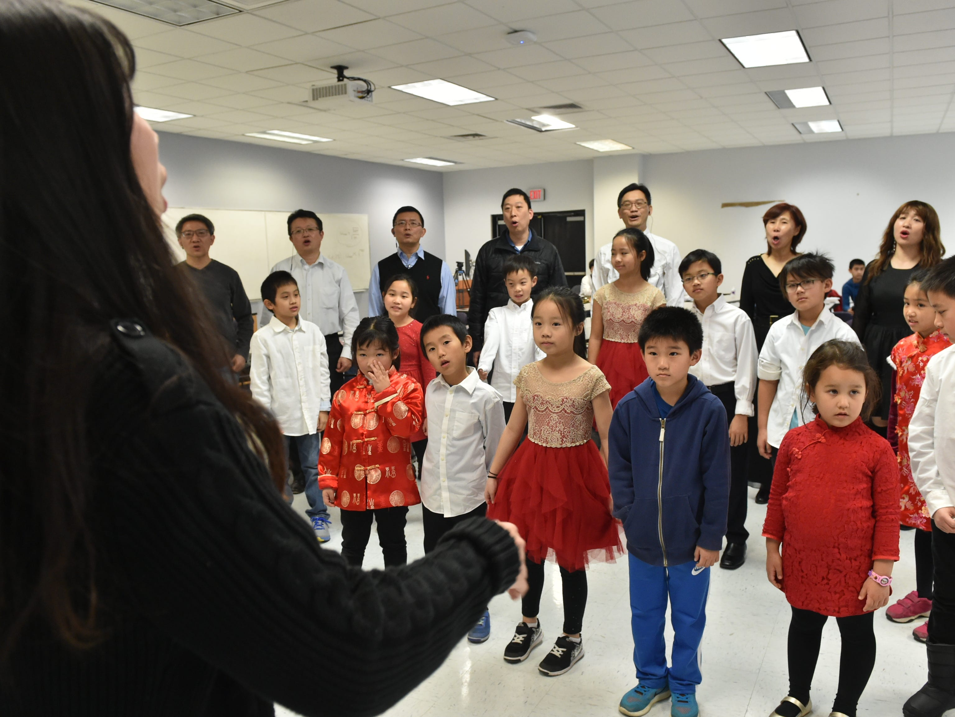 Students from the Chinese School at Tougaloo College practice for a performance in the upcoming Chinese New Year events to be held during the Spring Festival at the Mississippi Museum Art on Feb. 2 in Jackson. Sunday, Jan. 27, 2019