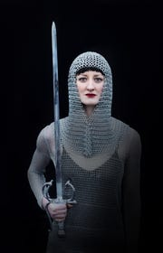 Harper Addison as Joan of Arc in the Go! Contemporary Dance production about the French heroine.