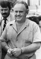 Don Walker is pictured outside federal court in June 1986.