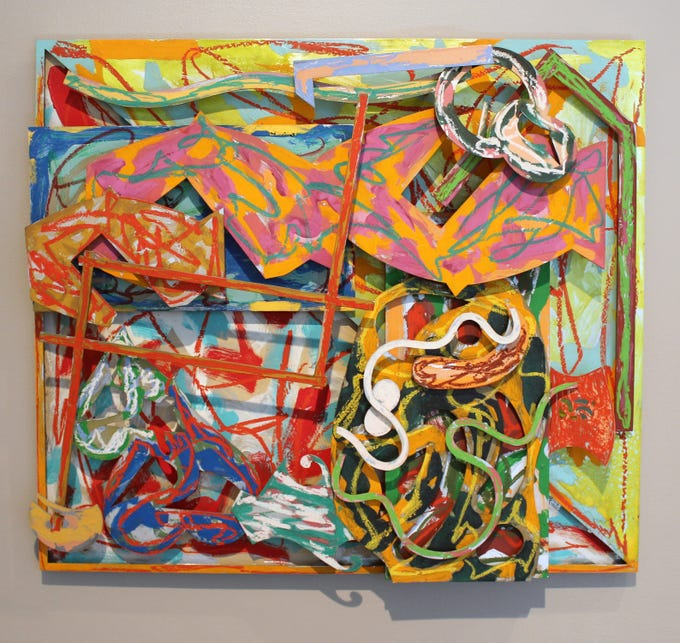"""This acrylic and oil stick on aluminum work """"Shards II"""" by Frank Stella is one of the works in the exhibit """"Lure of the Object: Art from the June and Rob Heller Collection"""" opening February 8 at the Knoxville Museum of Art."""