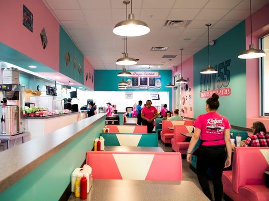 Hwy 55 Burgers, Shakes & Fries had its grand opening at 10:30 a.m. Monday, Jan. 28.