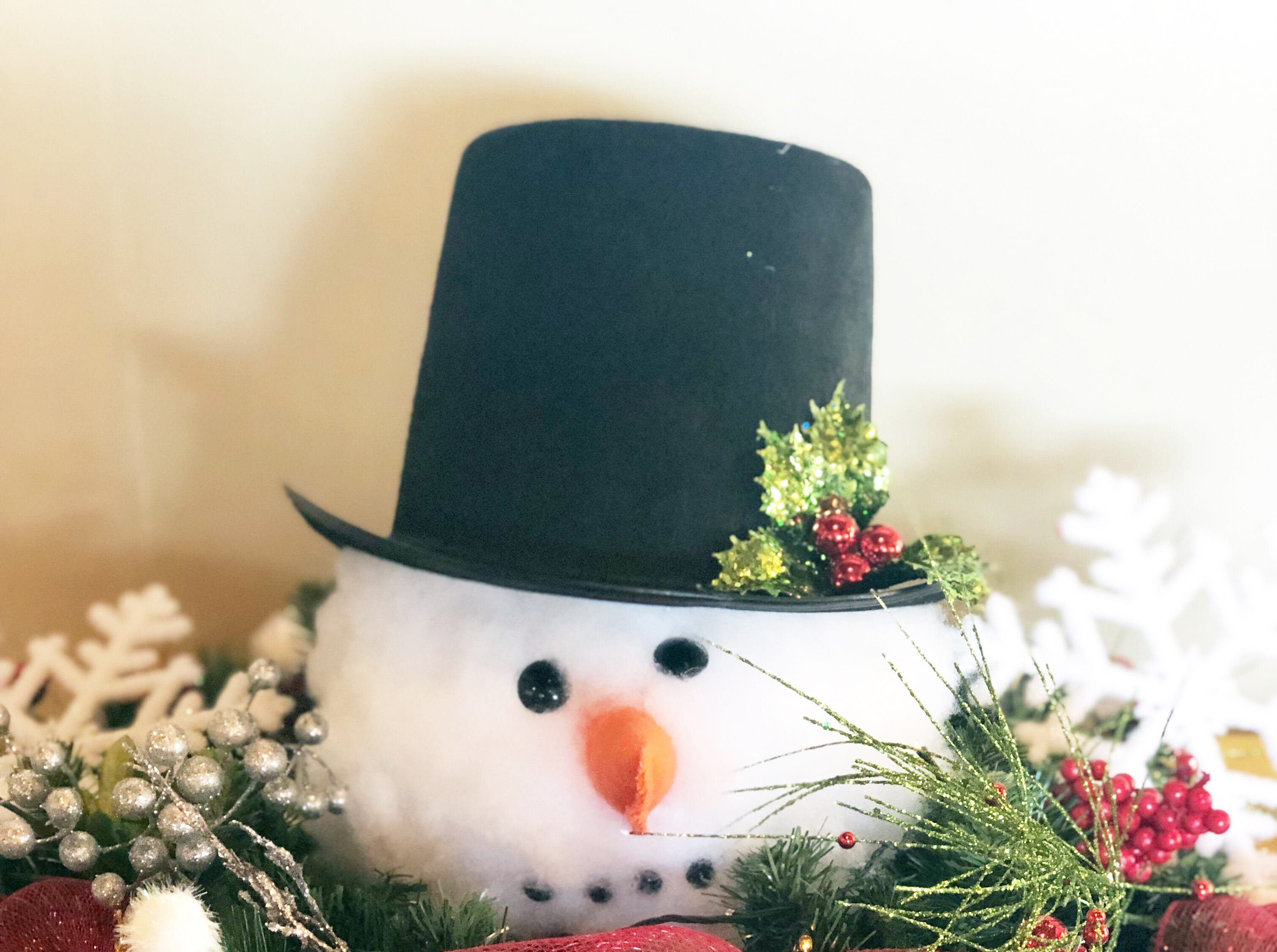 This snowman table decoration was used during the Halls Crossroads Women's League annual meeting in January. How much snow will Knoxville get this winter?