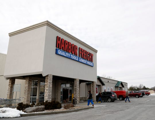 People enter and exit the Harbor Freight store Monday, Jan. 28, 2019, in Lancaster. The store opened last month.