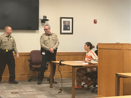 Jolyn McAllister was sentenced by Livingston County Circuit Court Judge Michael Hatty on Monday, Jan. 28, 2019. She was sentenced to 90 days in jail and two years probation.