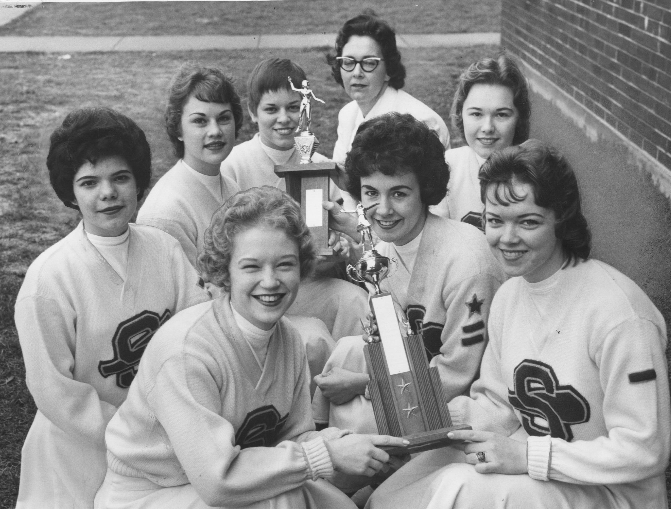 Seneca High is chosen the best cheerleaders in the State Basketball Tournament. Mar. 21, 1961