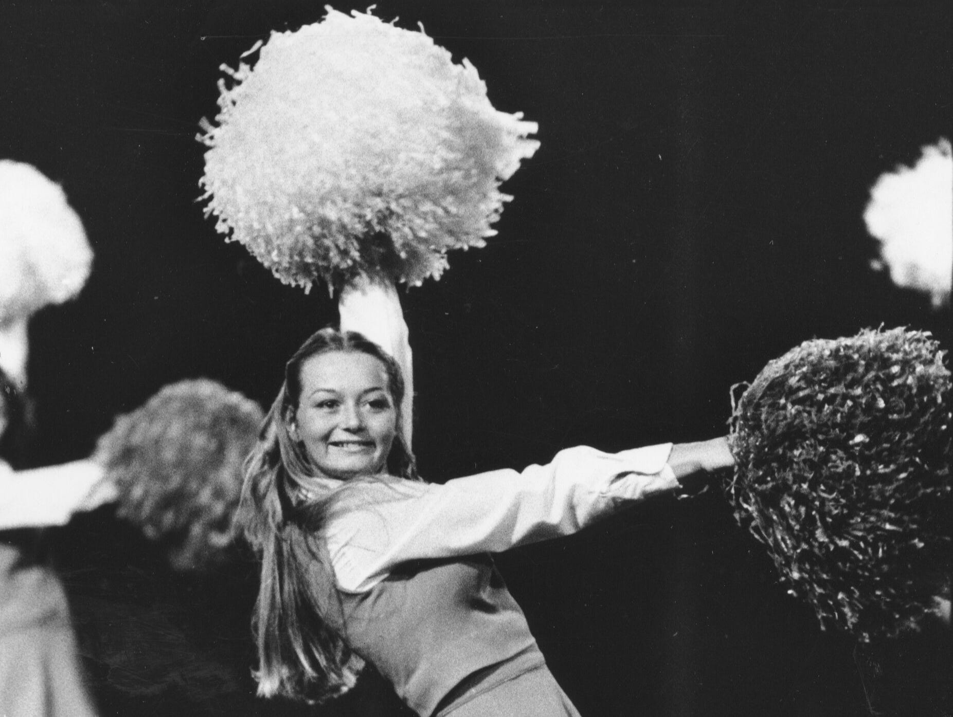 Tammy Geltmaker is a junior member of the Floyd Central pompom squad.