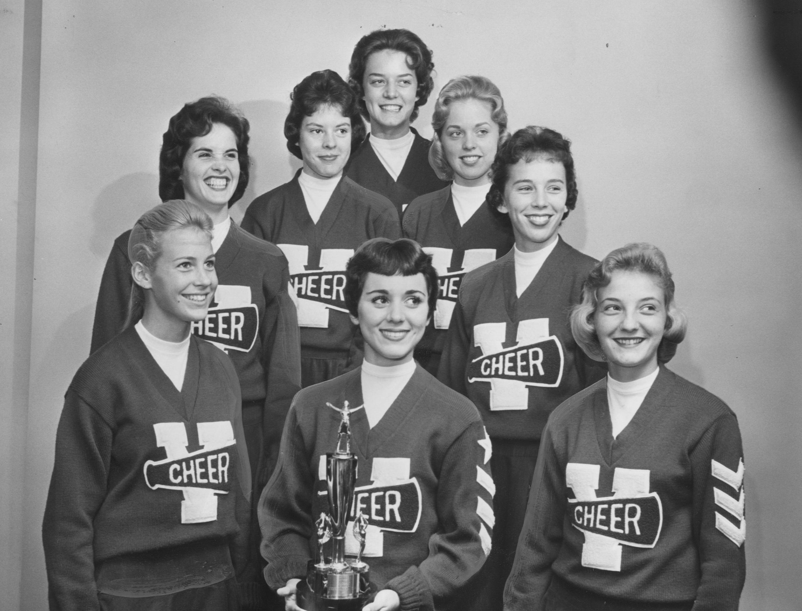 Named the best cheerleading group during a recent clinic at Western Kentucky State College were these Valley High School cheerleaders. Oct. 5, 1960
