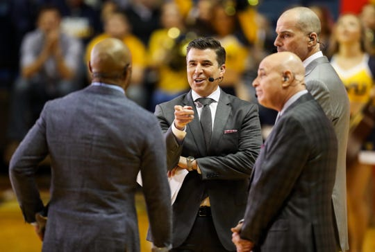 The ESPN College GameDay crew of (left to right) Jay Williams, Rece Davis, Seth Greenberg and Jay Bilas will be in East Lansing on Saturday as Michigan State plays host to Indiana.