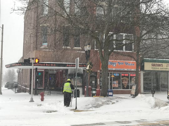 The National Weather Service is predicting seven to 10 inches of snow Monday, Jan. 28, 2019 and bitterly cold temperatures through Thursday. Many city and county government offices closed Monday due to the weather.
