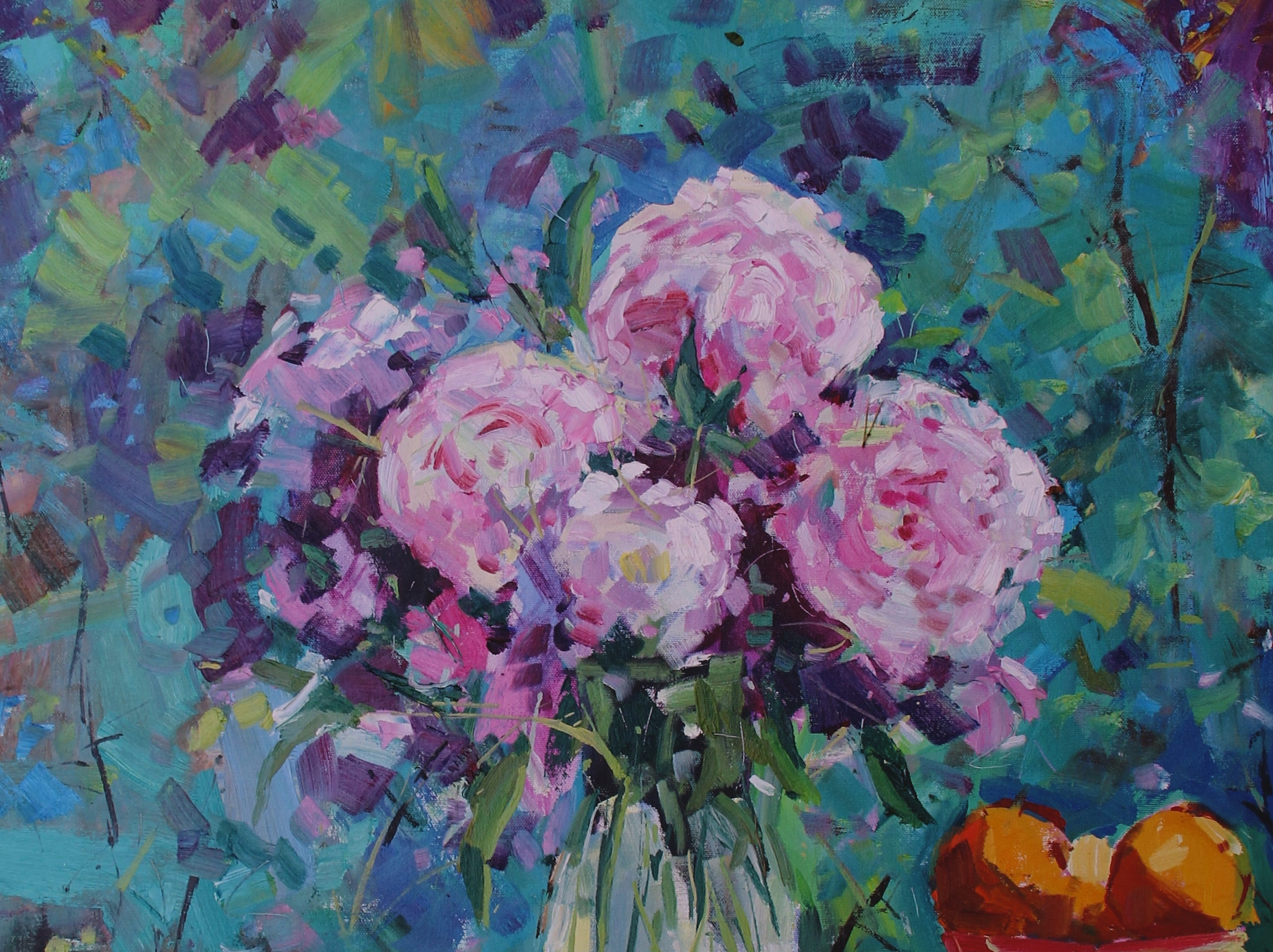 'Backyard Peonies' by Manitowoc artist Bob Beck.