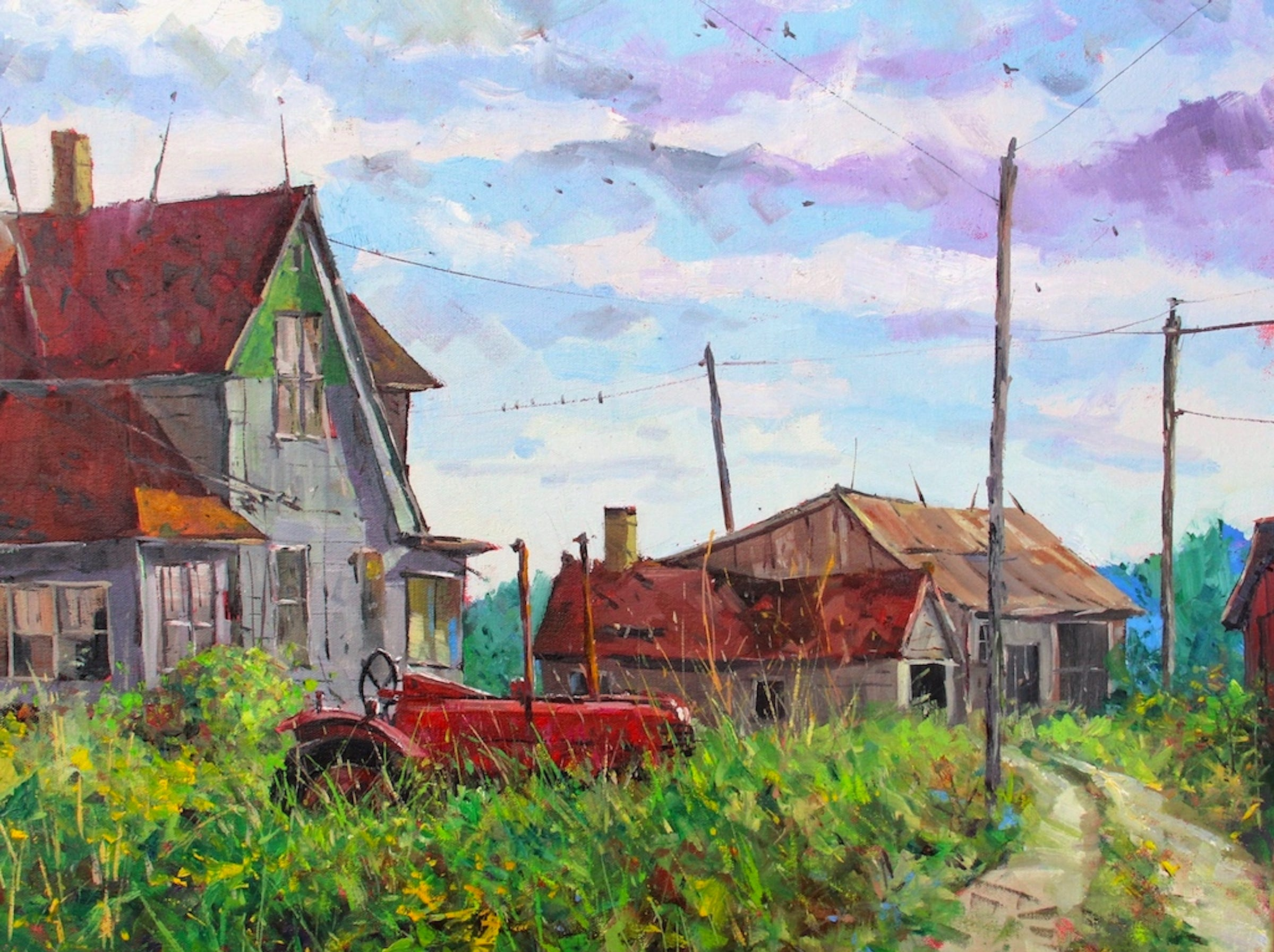 'Ed's Tractor' by Manitowoc artist Bob Beck.