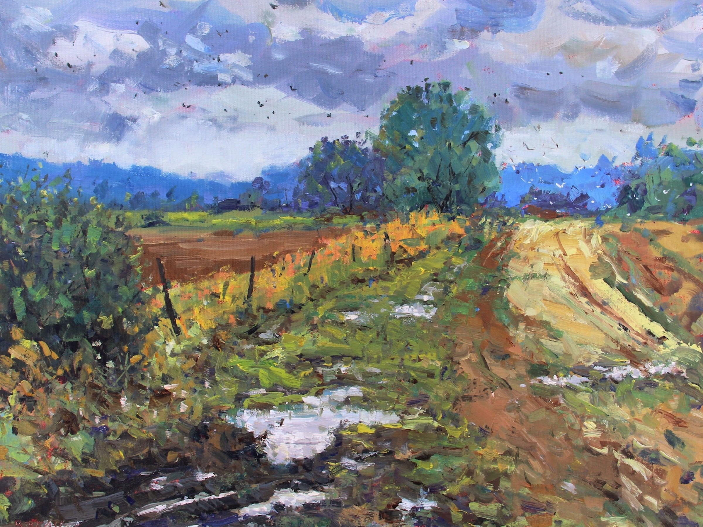 'Rain on the Farmland' by Manitowoc artist Bob Beck.