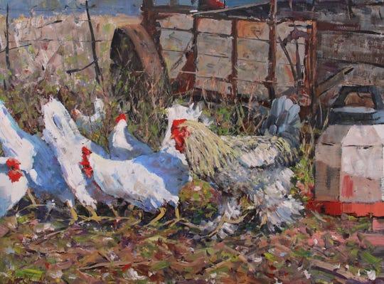 'Peeper's Leghorns' by Manitowoc artist Bob Beck.