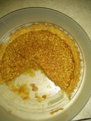 Shoestring Apple Pie is the recipe of the week, but Lovina also baked this oatmeal pie for her family.