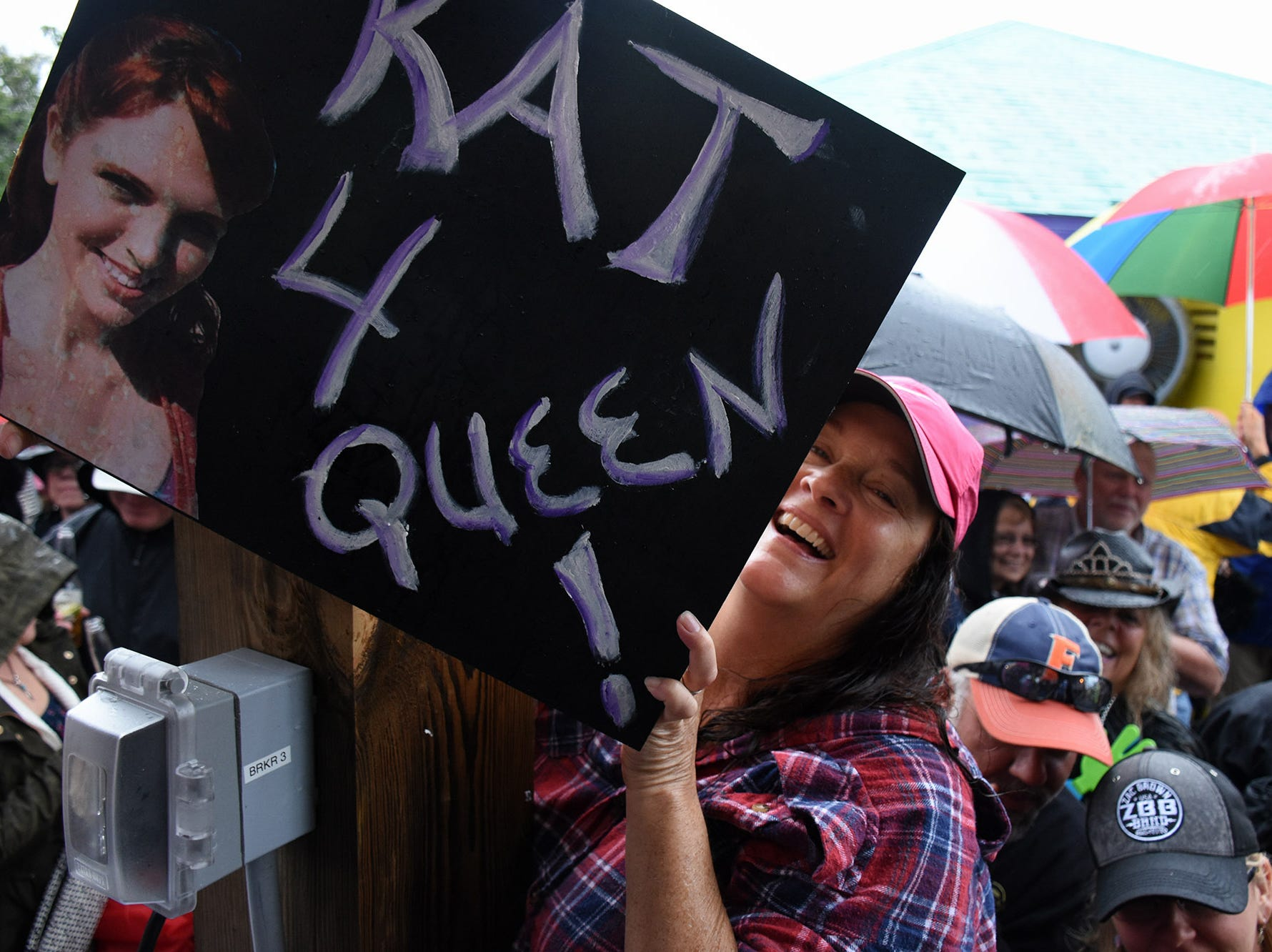 Kat Ebaugh of Marco Island had a serious campaign mounted for her bid. Stan's Idle Hour restaurant held The 35th annual Mullet Festival over the weekend, a rain and beer-soaked celebration.