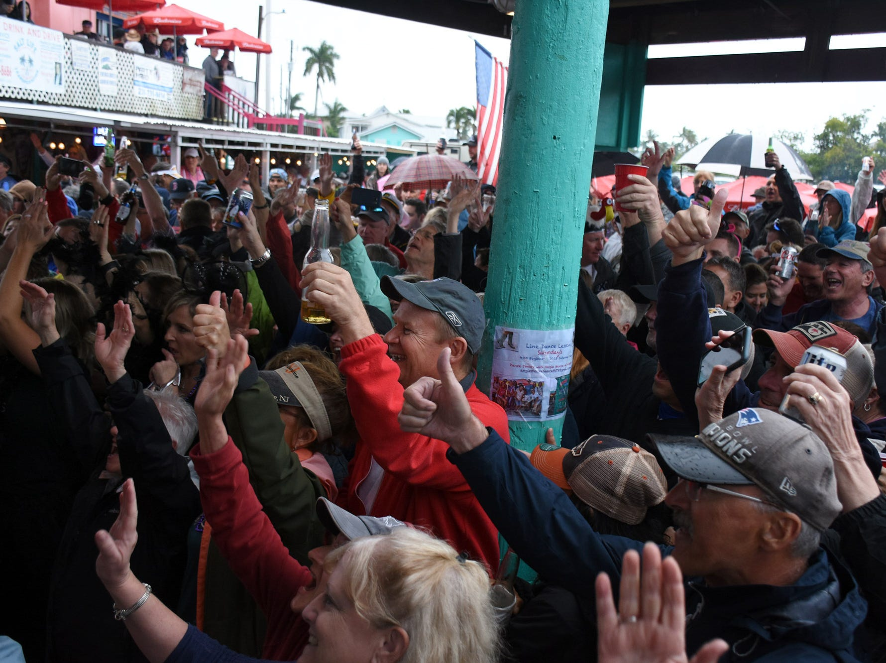 The crowd votes with their cheers. Stan's Idle Hour restaurant held The 35th annual Mullet Festival over the weekend, a rain and beer-soaked celebration.