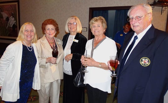 From left, Dr. Karen Booth, Donna Babb, Joanne Blaauboer, Sue and John Barnes.