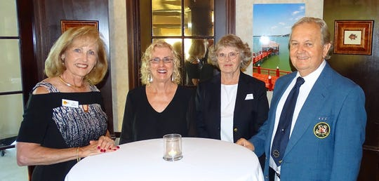 From left, Patricia Marsh, Vivian Stiles, Commodore Deena Procopio and P/C Lynne Stiles.