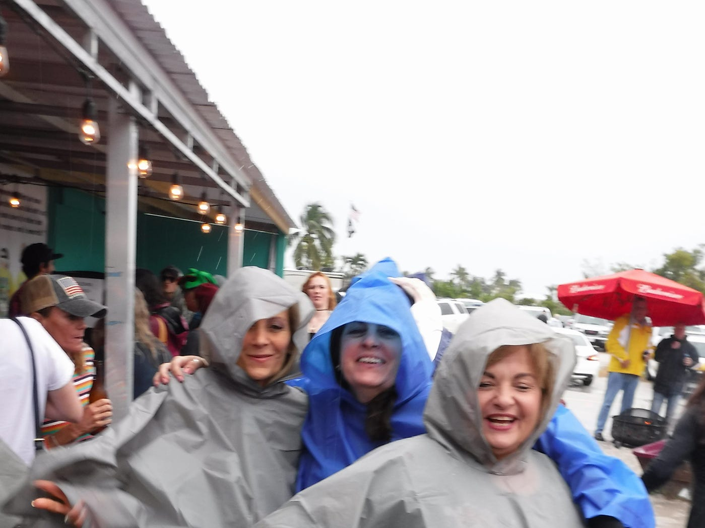 Ponchos were a fashion statement. Stan's Idle Hour restaurant held The 35th annual Mullet Festival over the weekend, a rain and beer-soaked celebration.