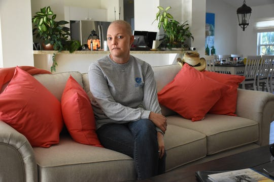 """Cancer patient Lauren Ross, seen in her parents' living room, will share her story and her struggle during the Imagination Ball. The Marco Island office of the American Cancer Society will hold """"A Magical Night to Finish the Fight"""", the 2019 Imagination Ball, February 1 at the JW Marriott hotel."""