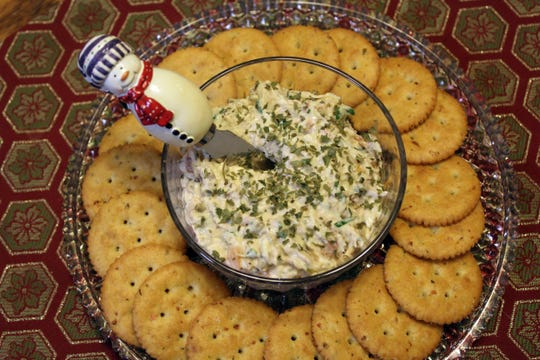 Smoked sturgeon spread, shown here made with smoked salmon.