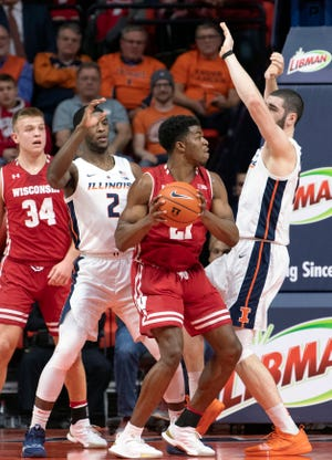 Khalil Iverson pitched in with 12 points, seven rebounds, two steals, two blocks and strong defense in Wisconsin's victory over Illinois last week.