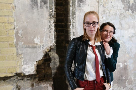 """Emily Elliot and Caitlyn Nettesheim perform in Cooperative Milwaukee's """"Allusion Illusion."""""""