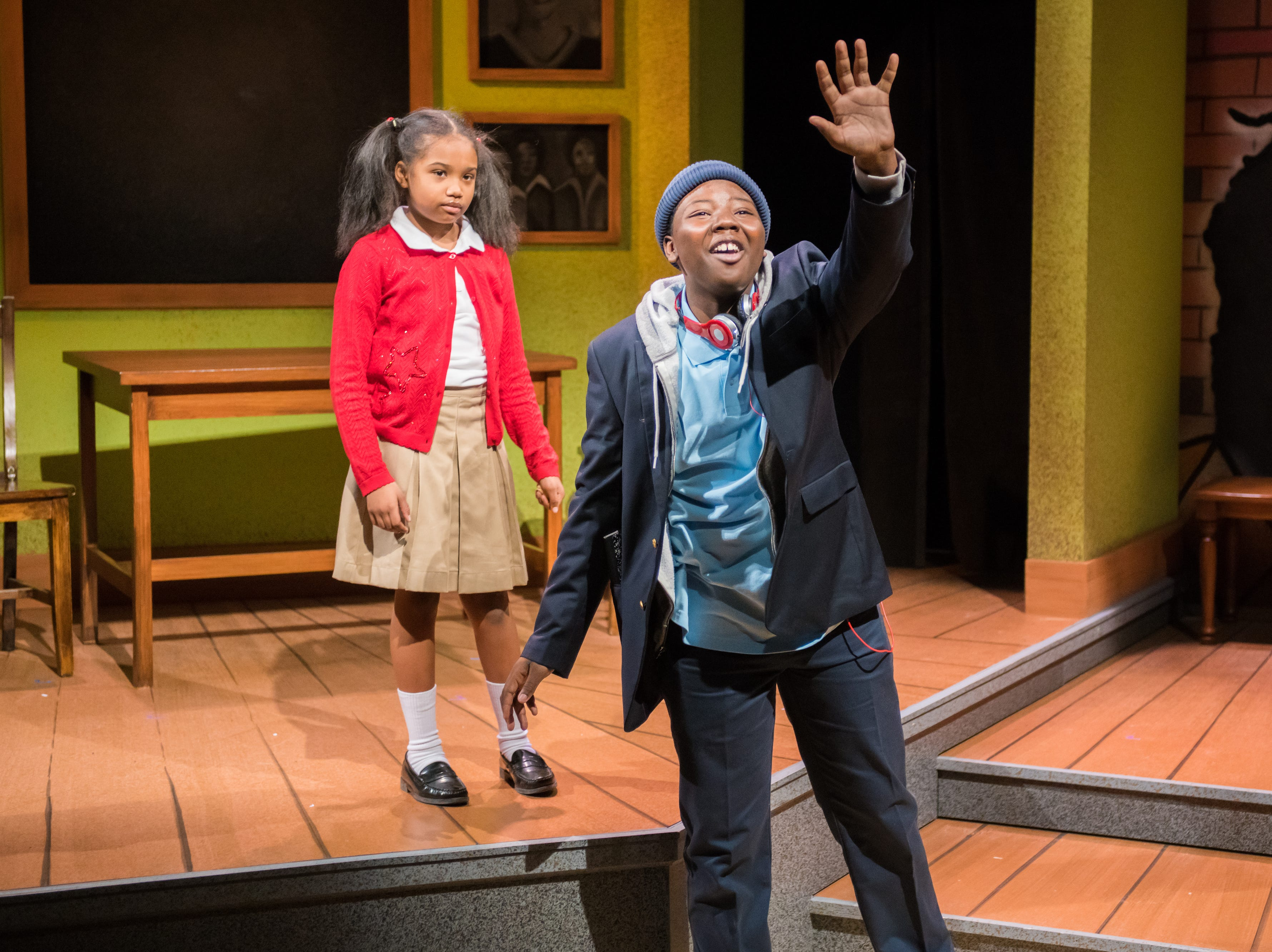 """Ronna Kelly and Jakobie Jackson perform in First Stage's production of """"Locomotion"""" by Jacqueline Woodson, which continues through Feb. 24 at the Milwaukee Youth Arts Center, 325 W. Walnut St."""