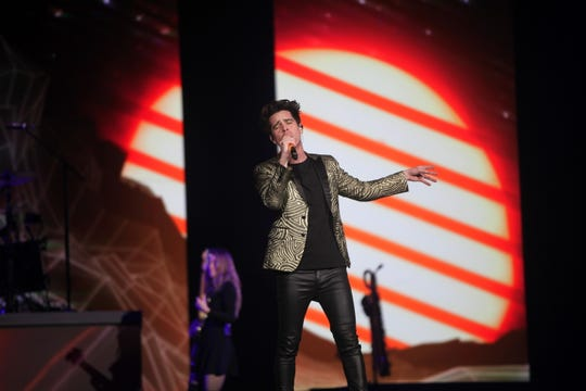 Panic! At the Disco performs at a sold-out Fiserv Forum in Milwaukee on Sunday, Jan. 27, 2019.
